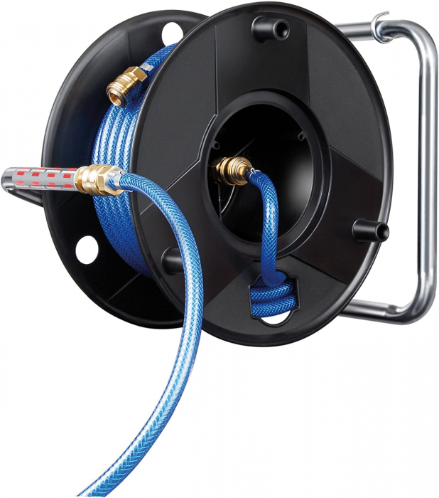 Furtun Aer comprimat compresor Brennenstuhl cu tambur, anti rasucire, 20m, Ø 9/15mm, 15 bari 2
