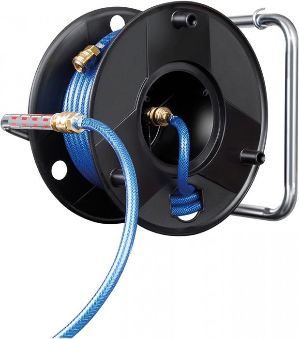 Furtun Aer comprimat compresor Brennenstuhl cu tambur, anti rasucire, 20m, Ø 6/12mm, 15 bari 2