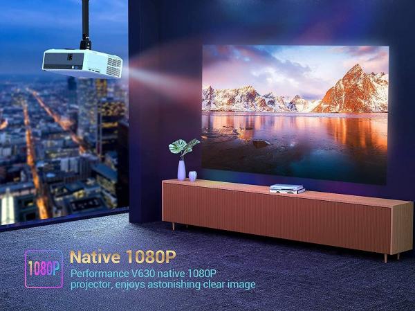 Videoproiector VANKYO Performance V630, 6000 Lumeni, Native 1080p, LED, HDMI, VGA, AV, USB, Geanta de transport, Telecomanda, Cablu HDMI [6]