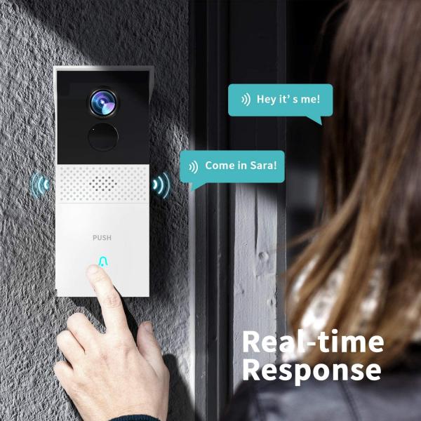 Interfon Smart cu camera HeimVision HMB1, Wireless, 1080P HD, Motion Detection, Convorbire bidirectionala, unghi larg, Control aplicatie [8]