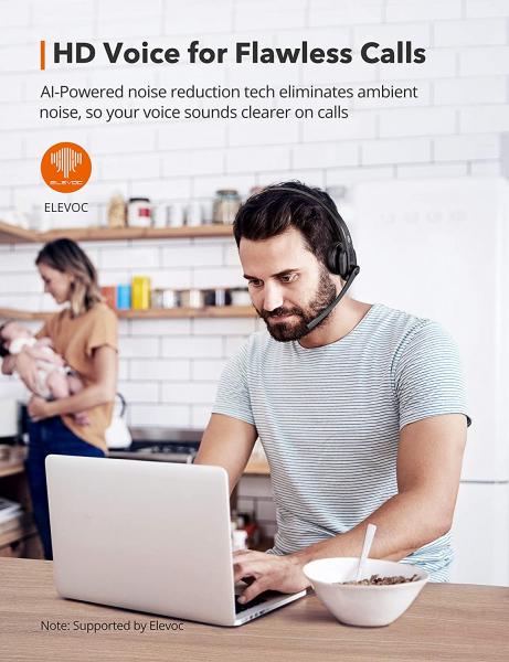 Casti wifi TaoTronics TT-BH041, Microfon, AI Noise Cancelling, Call Center, Bluetooth 5.0, functionare 34 ore 6
