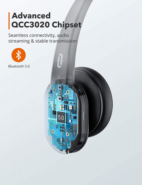 Casti wifi TaoTronics TT-BH041, Microfon, AI Noise Cancelling, Call Center, Bluetooth 5.0, functionare 34 ore 7
