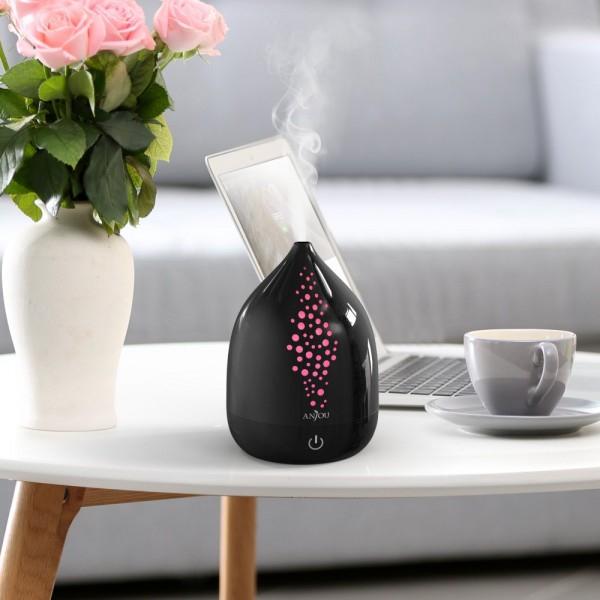 Difuzor aroma cu Ultrasunete Anjou AJ-AD006, 200ml, 13W, LED 7 culori, oprire automata - Negru 8