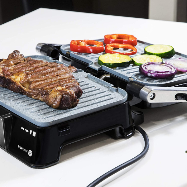 Grill 2 in 1, Rock'nGrill, Cecotec 1500 Take&Clean, 1500W, regulator de putere, piatra antiaderenta, gratar electric si aparat de facut sandvisuri - Resigilat [3]