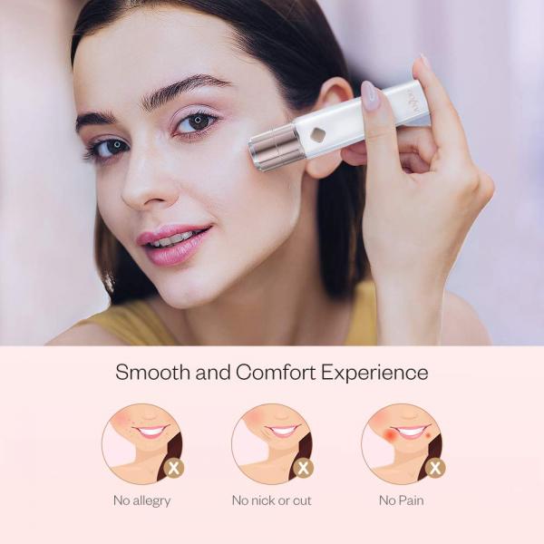 Trimmer facial femei Anjou AJ-PCA022, Lumina LED, pentru mustata, parul facial, baterie reincarcabila 1