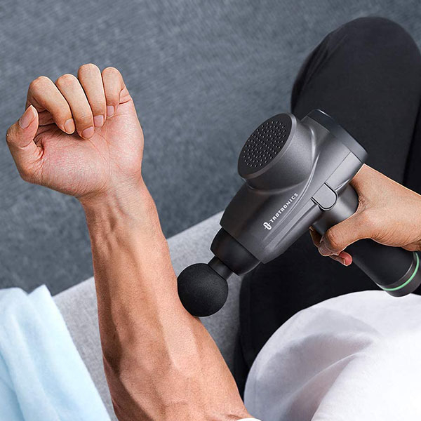 Aparat de masaj Gun Profesional TaoTronics TT-PCA003, 6 capete interschimbabile, 10  trepte de viteza 8