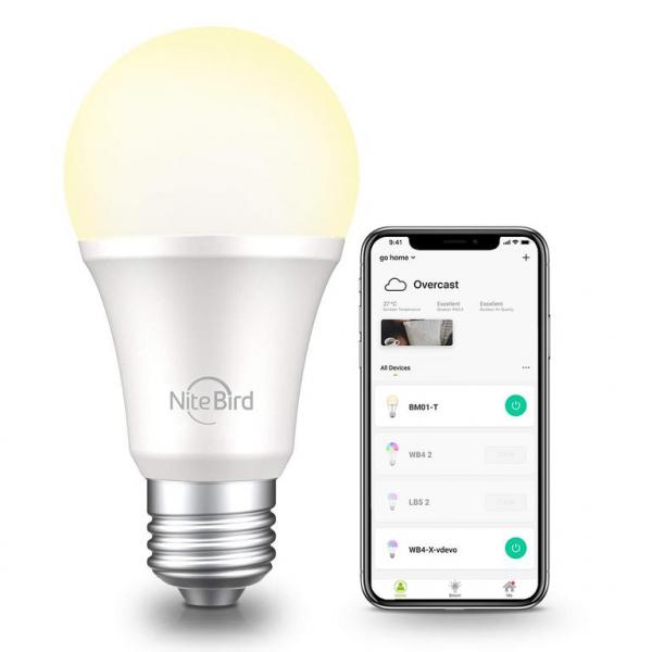 Bec Inteligent LED NiteBird WB4, 8W, 800lm, 2700K, E27 1