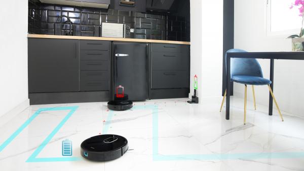 Aspirator robot 4 in 1  Conga 1790 Ultra, Control aplicatie, 2100 Pa, autonomie 160 minute, rezervor lichide si praf, 2 perii centrale diferite 5
