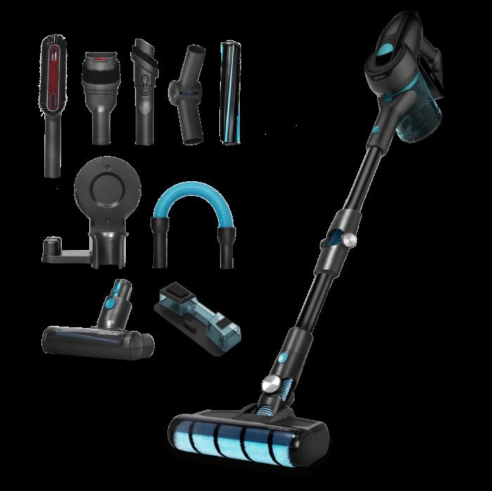 Aspirator vertical Cecotec Conga RockStar 700 Ultimate ErgoWet 4 in 1, 25.9V, autonomie 65 min, flexibil, putere aspirare 24 KPA, tehnologie ciclonica, functie mop, accesorii incluse 0