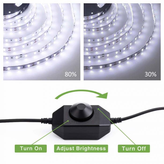 Banda LED Novostella 6m, 360 Leduri Lumina alb rece, Dimmer 6000K [3]