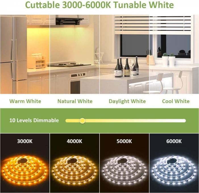 Banda LED Novostella 12m, 120 leduri/m, Dimmer, Culoare lumina reglabila 3000k - 6000K, Telecomanda [1]