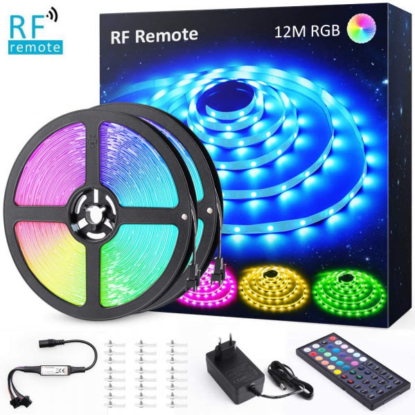 Banda LED RGB Novostela 12m, 360 Leduri, Telecomanda RF cu 44 butoane 0
