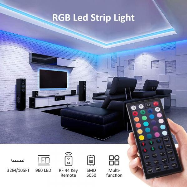 Banda LED RGB Novostela 32m, 960 Leduri, Telecomanda RF cu 44 butoane 1