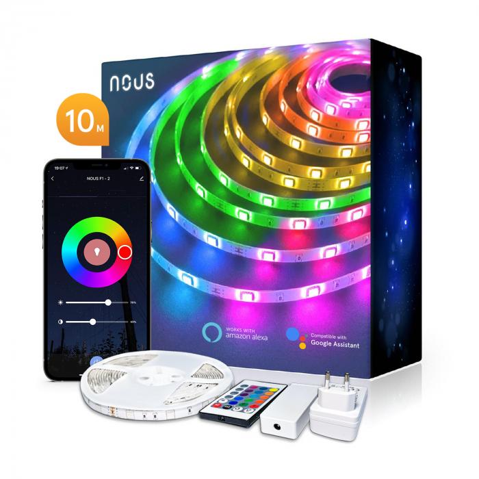 Banda LED Smart Nous F2 WiFi, 10 metri, Control APP [0]