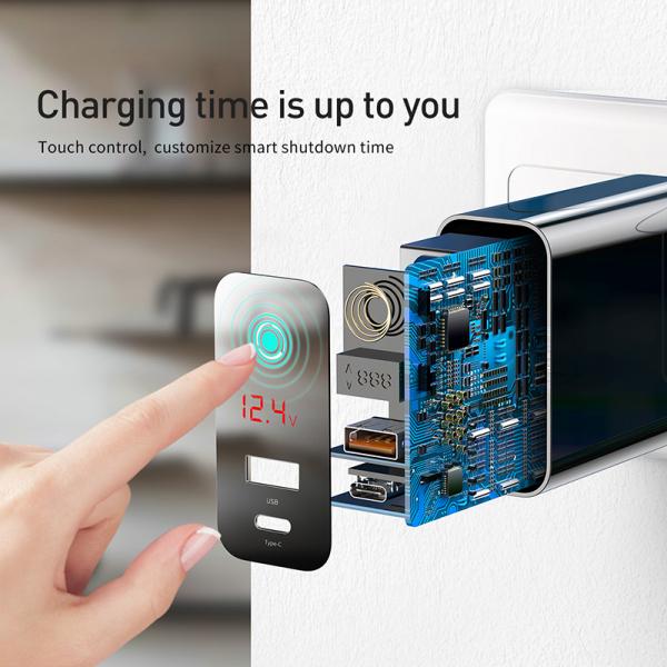 Baseus Incarcatorperete PPS QC USB + PD 45W Negru 5