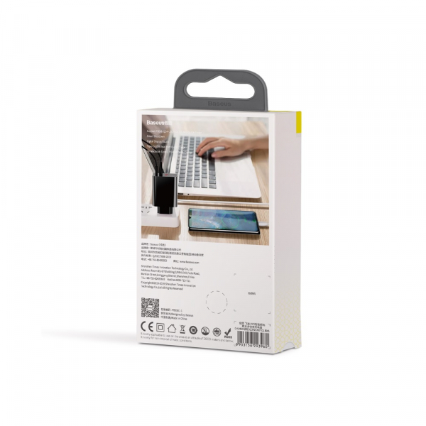 Baseus Incarcatorperete PPS QC USB + PD 45W Negru [7]
