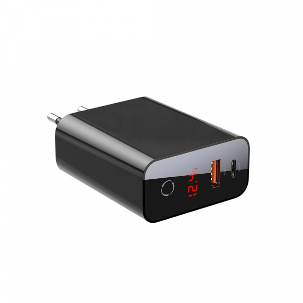 Baseus Incarcatorperete PPS QC USB + PD 45W Negru 0