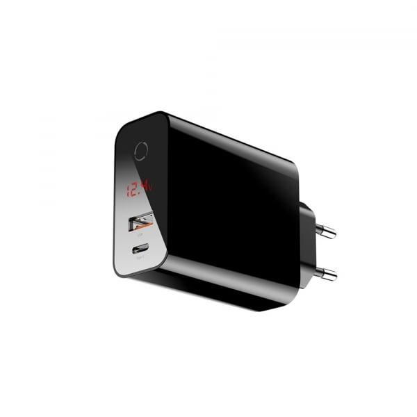 Baseus Incarcatorperete PPS QC USB + PD 45W Negru 3