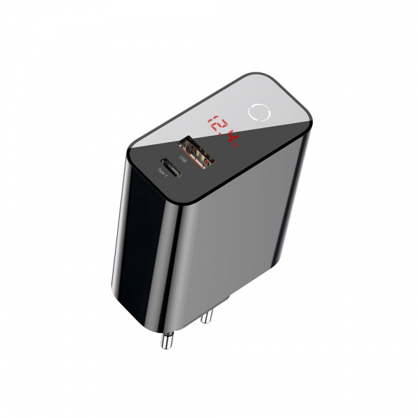 Baseus Incarcatorperete PPS QC USB + PD 45W Negru 2