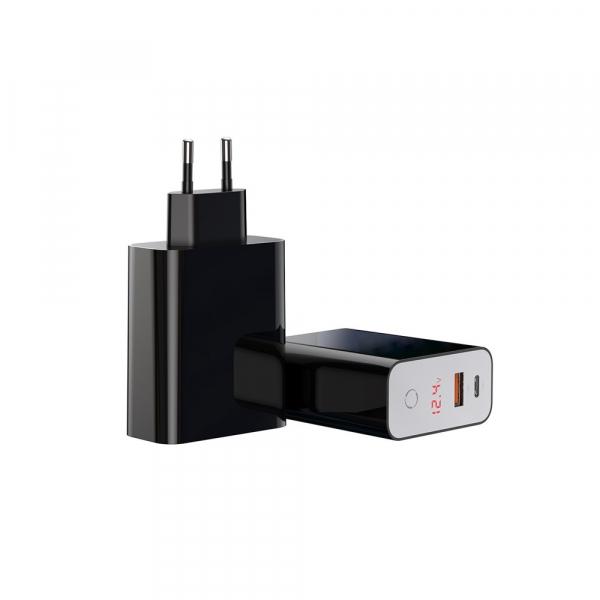 Baseus Incarcatorperete PPS QC USB + PD 45W Negru 4
