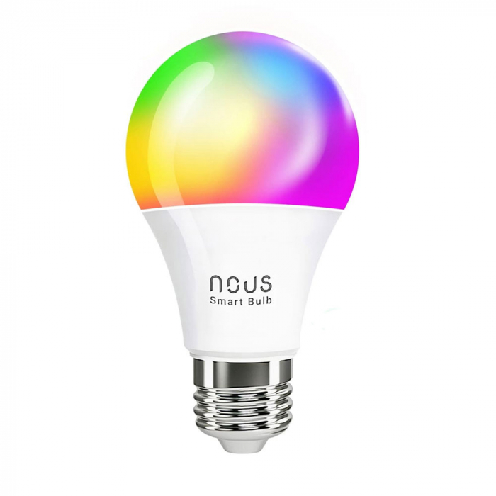 Bec LED RGB Smart NOUS P3, E27, Control din aplicatie 0