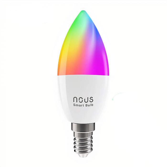 Bec LED RGB Smart NOUS P4, E14, Control din aplicatie 0