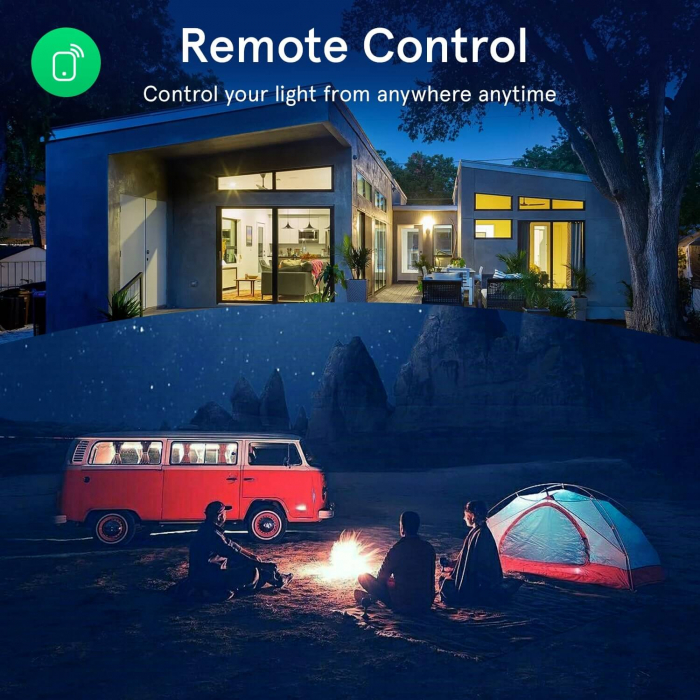 Bec LED RGB Smart NOUS P4, E14, Control din aplicatie 7