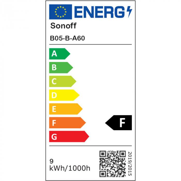 Bec Smart cu LED Sonoff B05-B-A60, RGB, Putere 9W, 806 LM, Control aplicatie [4]