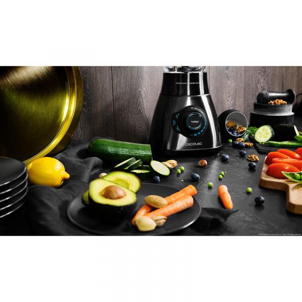 Blender Cecotec Power Black Titanium 1800 Smart, 1800 W, Zdrobire gheata, Bol sticla, Filtru pentru sucuri, 22000-rpm [5]