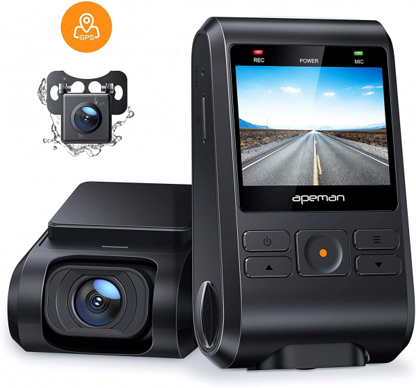 Camera auto DVR  Dubla Apeman C550, Full HD,  Bord si Spate, Unghi 170 grade, Detector miscare, WDR, G-Sensor, Mod parcare, Filmare in bucla [0]