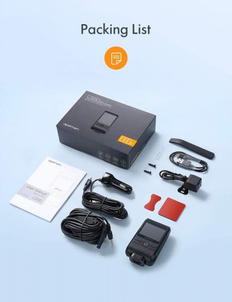Camera auto DVR  Dubla Apeman C550, Full HD,  Bord si Spate, Unghi 170 grade, Detector miscare, WDR, G-Sensor, Mod parcare, Filmare in bucla [3]