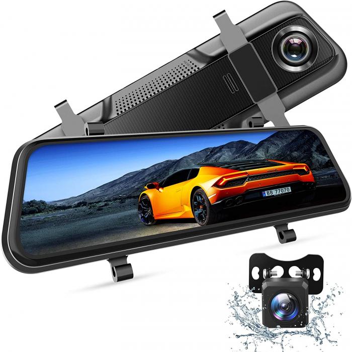 "Camera auto DVR Dubla Oglinda VanTop H609, FullHD, Bord si Spate, Touch-Screen, Unghi 170 grade, G Senzor, Display 10"" IPS 0"