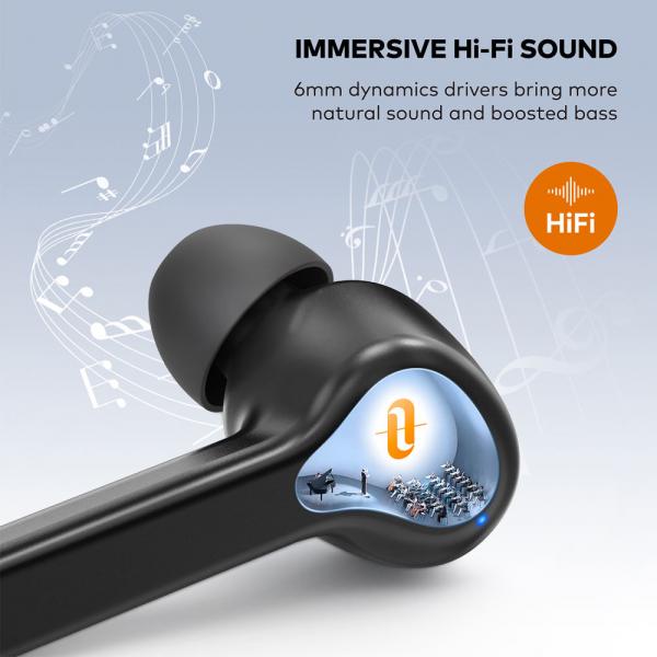 Casti audio In-Ear Taotronics TT-BH1001, True Wireless, Bluetooth 5.0, TWS  USB-C 4