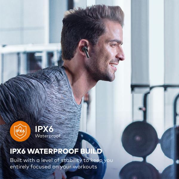 Casti audio In-Ear Taotronics TT-BH1001, True Wireless, Bluetooth 5.0, TWS  USB-C 5