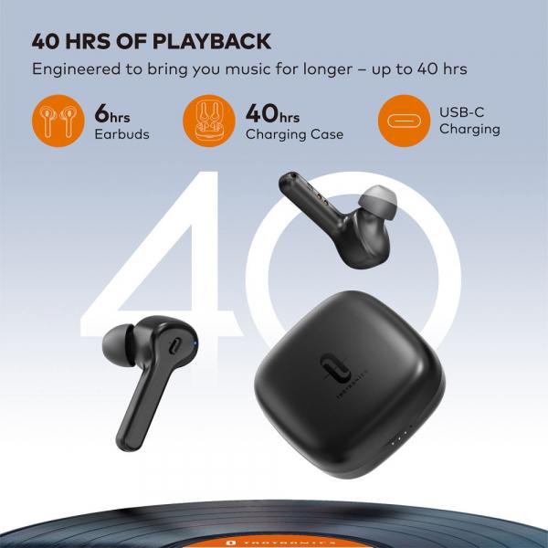 Casti audio In-Ear Taotronics TT-BH1001, True Wireless, Bluetooth 5.0, TWS  USB-C 1