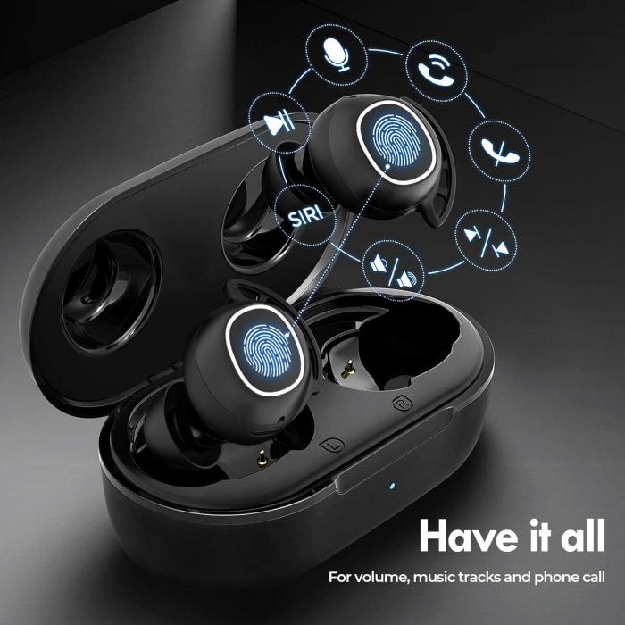 Casti audio In-Ear Mpow M30 TWS, Bas Clar, IPX8, 25 ore, USB-C, True Wireless, Bluetooth 5.0, TWS [1]