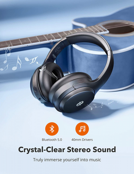 Casti audio TaoTronics TT-BH090, Hybrid Active Noise Canceling, Bluetooth 5.0, Bas puternic,True Wireless, Autonomie 35 ore 4