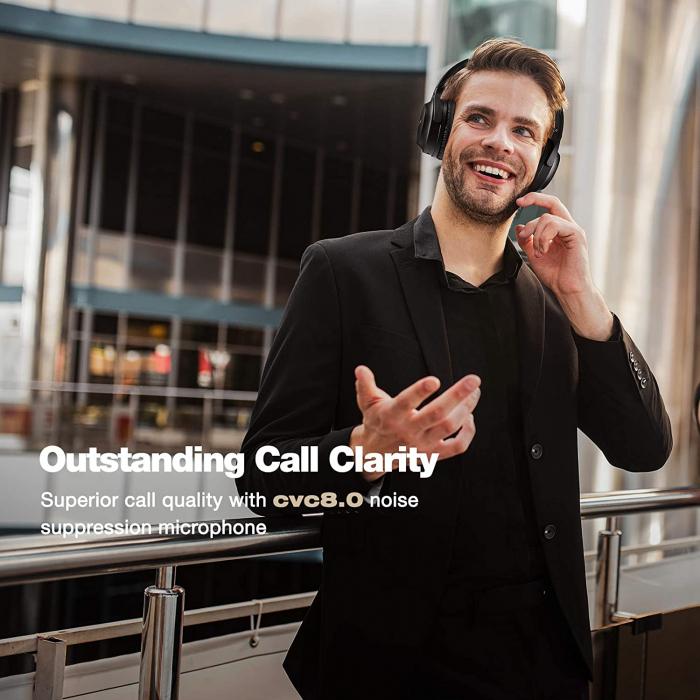 Casti audio Mpow H12 IPO, Active Noise Canceling, Bluetooth 5.0, USB-C, Bas puternic, Microfon CVC8.0, Autonomie 40 ore, True Wireless [3]