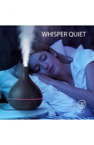 Difuzor aroma cu Ultrasunete Anjou AJ-AD012, 500ml, LED, oprire automata - Wenge 6