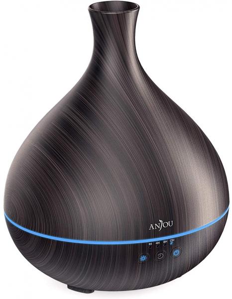 Difuzor aroma cu Ultrasunete Anjou AJ-AD012, 500ml, LED, oprire automata - Wenge 1
