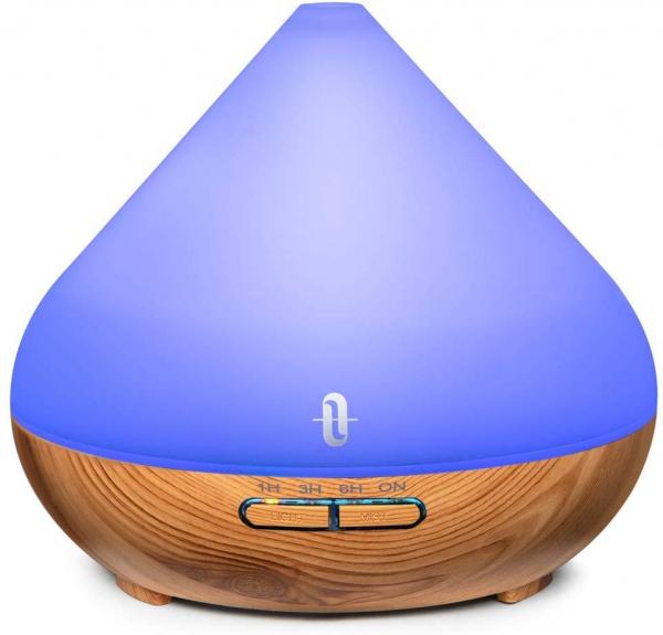 Difuzor aroma cu Ultrasunete TaoTronics TT-AD002, 300ml, 13W, LED 7 culori, oprire automata - Nuc natur 9