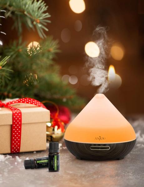 Difuzor aroma cu Ultrasunete Anjou AJ-AD001, 300ml, 13W, LED 7 culori, oprire automata 3