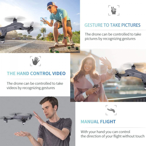 Drona Visuo XS809HW Camera 2Mp cu transmisie pe telefon, altitudine automata, brate pliabile [3]