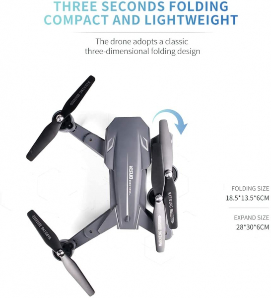 Drona Visuo XS809HW Camera 2Mp cu transmisie pe telefon, altitudine automata, brate pliabile [8]
