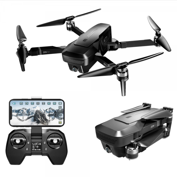 Drona Visuo Zen K1, camera 4K cu transmisie live pe telefon, motoare Brushless - Resigilat 0