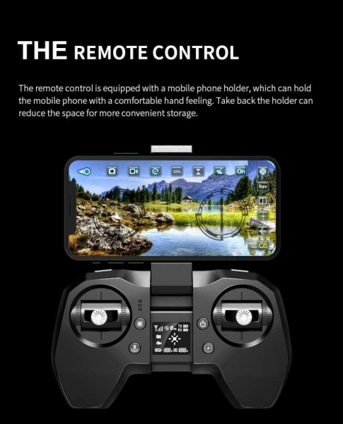 Drona Visuo  XS817, camera 4K cu transmisie live pe telefon [8]