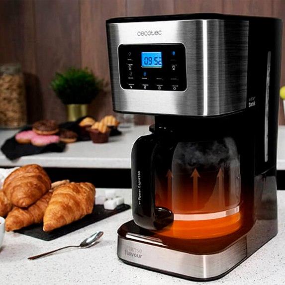 Cafetiera cu Filtru , CECOTEC 1555, 950W, 1.5 L, Cana Sticla, Timmer Programabil, mentine cafeaua fierbinte, Argintiu Negru [3]