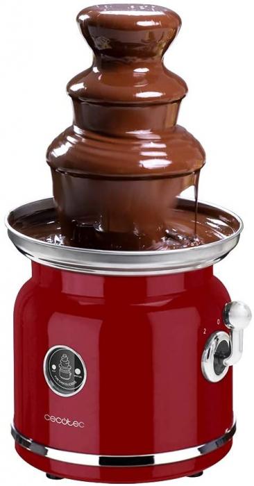 Fantana de ciocolata, Cecotec Fun Chocolicious, 90W, design retro,3 niveluri, Capacitate 700ml, Inox 3