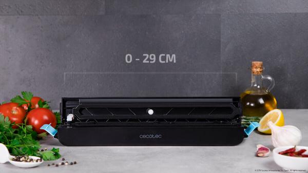Aparat de vidat Cecotec FoodCare SealVac 600 Easy, 85 W, Presiune vid 0.6 bar, Vidare rapida ~10 secunde, Iluminare LED, Design compact, Silentios, Negru/Albastru [6]