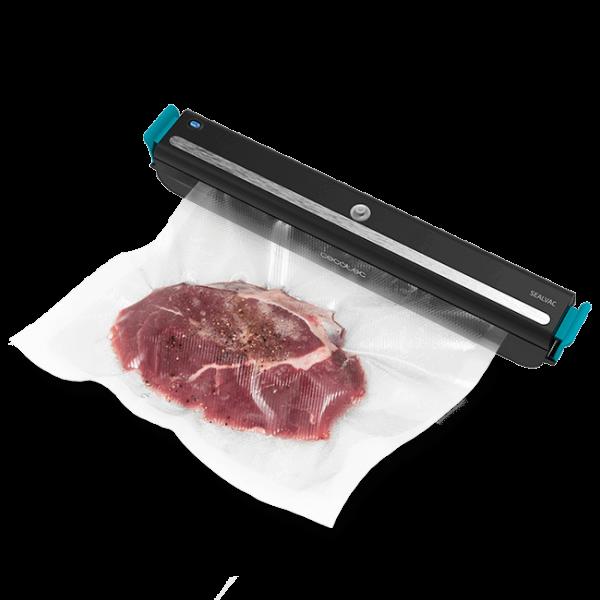 Aparat de vidat Cecotec FoodCare SealVac 600 Easy, 85 W, Presiune vid 0.6 bar, Vidare rapida ~10 secunde, Iluminare LED, Design compact, Silentios, Negru/Albastru [0]